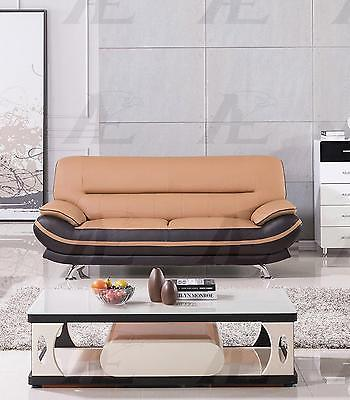 American Eagle  AE709-YO.BR Yellow and Brown  Sofa Faux Leather