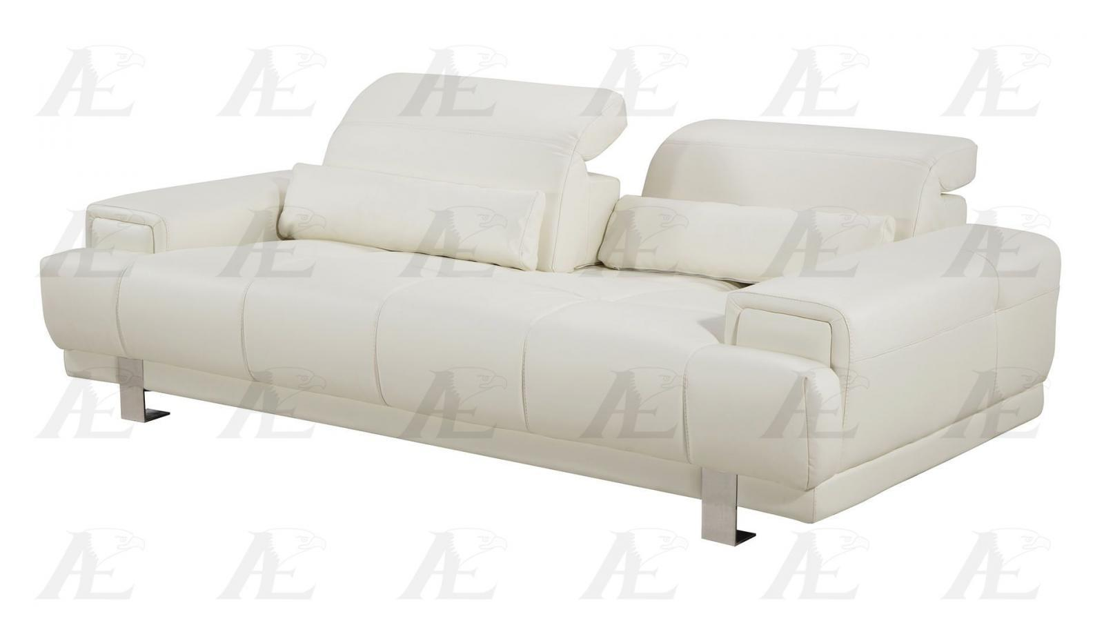 American Eagle AE606-IV Ivory Sofa Faux Leather
