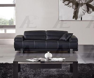 American Eagle AE606-BK Black Sofa Faux Leather