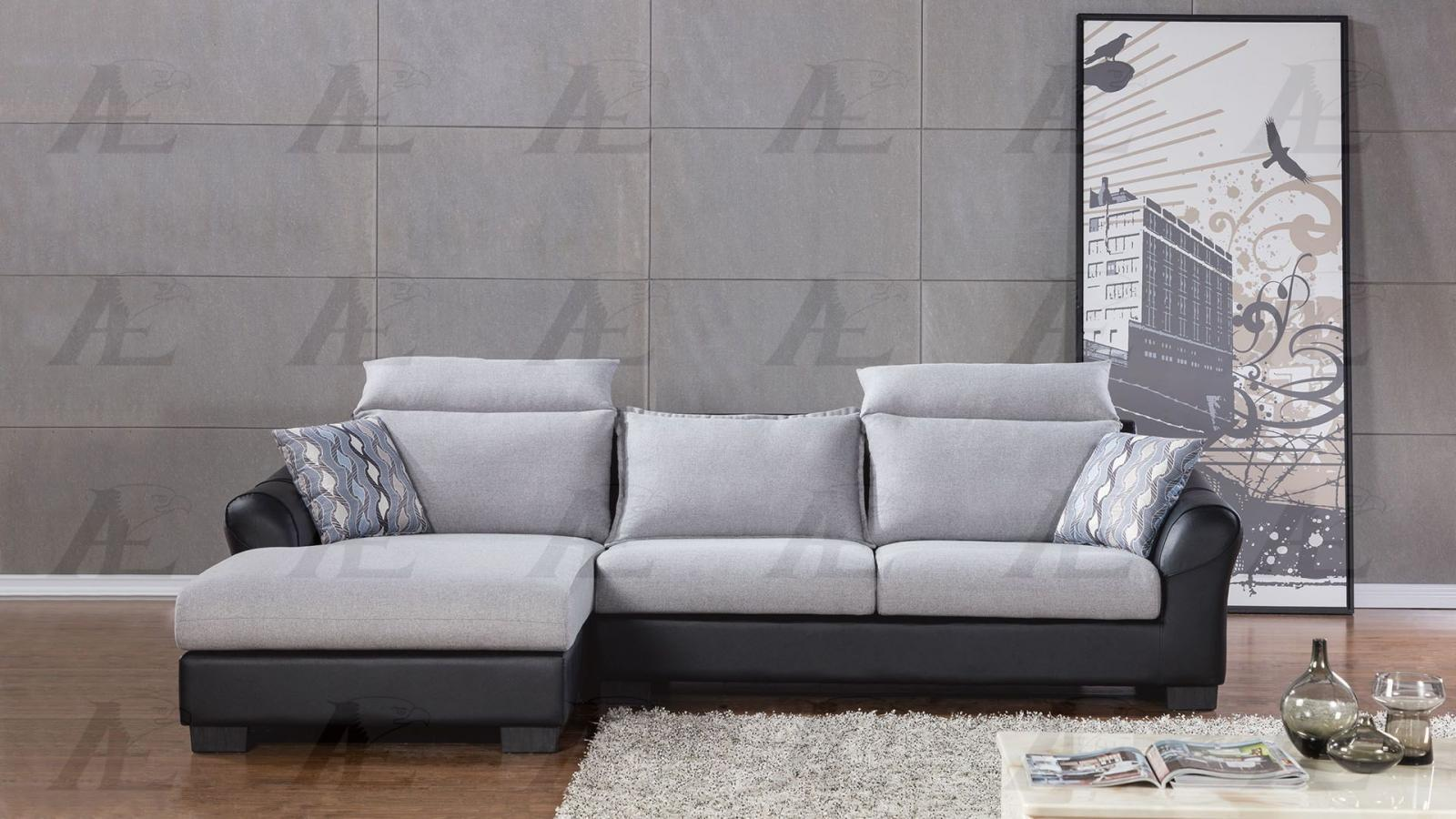 American Eagle AE-L2363M Light Gray Seactional Sofa Living Room Set Left 2Pcs