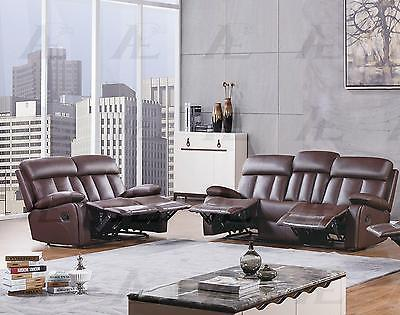 American Eagle AE-D825-DB Dark Brown Recliner Sofa  Loveseat  Set 2Pcs