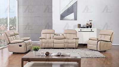 American EagleAE-D825-TAN  Recliner Sofa  Loveseat and Chair Set 3Pcs