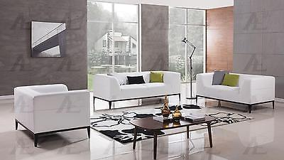 American Eagle AE-D820-W White Sofa Loveseat and Chair Set Bonded Leather  3Pcs