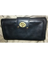 Marc by Marc Jacobs Wallet Black Leather Turnlo... - $16.00