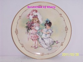 Little Ladies Playing Bridesmaid Collector Plate Victorian Children Vintage - $59.95