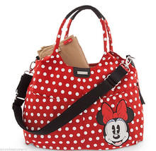 Disney Store Minnie Mouse Diaper Bag Storksak Red New 2015 - $159.95