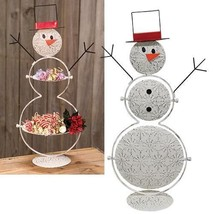 Snowman serving dish Table Candy Christmas Holiday Home  - $27.71