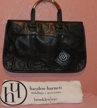 NWT Hayden Harnett Black Leather Oryx Clutch Bag  - $75.00