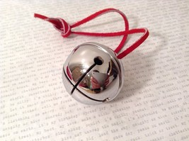 Petite Round Silver Chrome Brass Polar Jingle Sleigh Bell Express From the Elves
