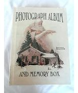 NORMAN ROCKWELL PHOTOGRAPH ALBUM BOOK AND MEMORY BOX WITH CHRISTMAS SANT... - $19.75