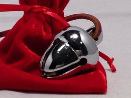 Elf Favorite Polar Double Chamber Silver Sleigh Bell From Santa's Sleigh W Ve...