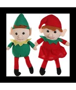 Christmas Santa Helper-ELF TWINS SHELF DOLL-Boy... - $7.89