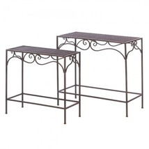 Umber Wicker Nesting Table by Accent Plus - $159.96