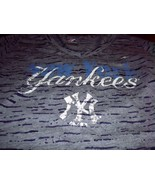 womens ladies NY NEW YORK Yankees Burnout V-neck T shirt sexy size small - $12.99
