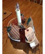 Vtg Christmas Craft Enamel Bowl Prim Pears Candolier Light Lil Chicks Ho... - $9.89