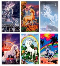 6 Unicorn Magnets - Set D. - £11.75 GBP