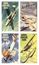 4 Model Airplane News Magnets - Set D. - $14.49