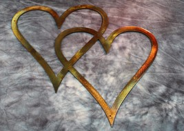 """Double Hearts Metal Wall Accents Copper/Bronze 11"""" tall - $14.99"""