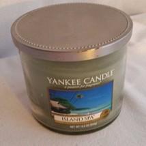 YANKEE CANDLE ISLAND SPA 12.5 OZ. HOUSEWARMER JAR-USED ONCE-#1125721-GREEN - $14.03