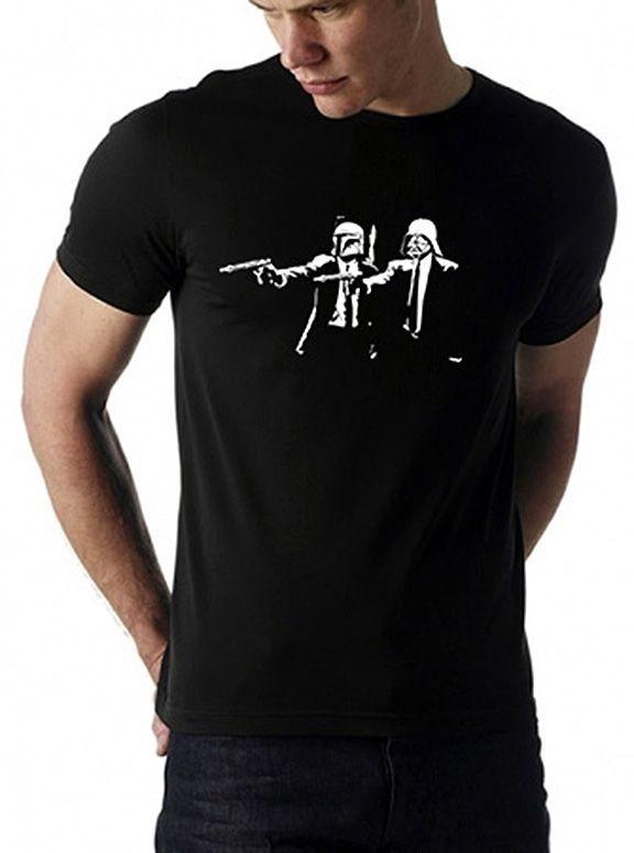 star wars darth vader & boba fett pulp fiction - 100% cotton t-shirt