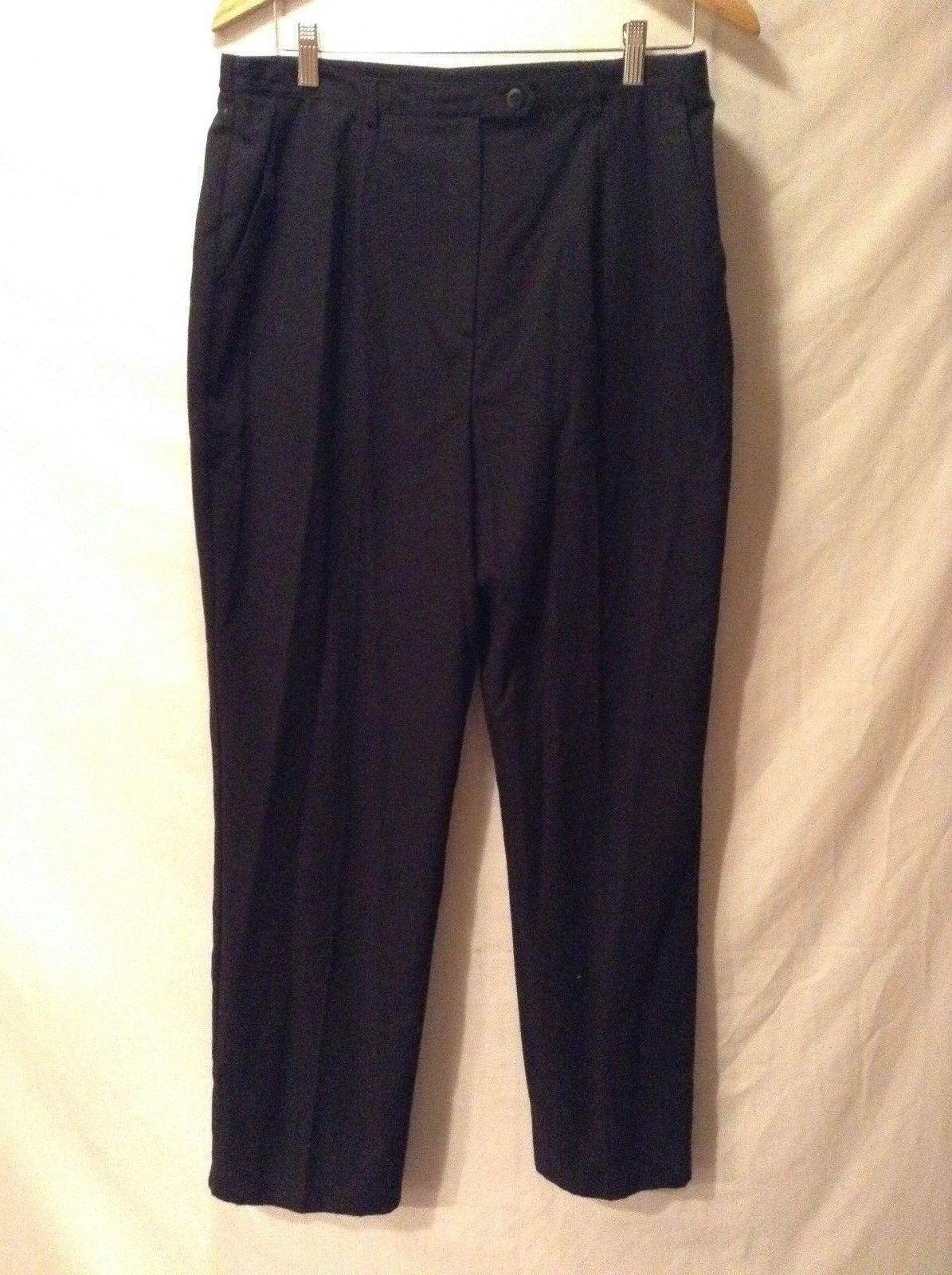 Ladies Sag Harbor Black Dress Pants Size 16