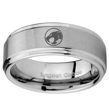 Thundercat 8mm Step Edges Tungsten Carbide Engraved Ring - $39.99