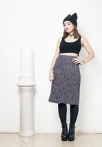 60s vintage purple noise knit skirt - $36.02