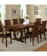 Double Pedestal 8 Person Wood Extendable Dining Table Only Chairs Not In... - $1,460.28
