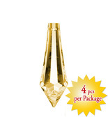 Swarovski Crystal 38mm Topaz Faceted Crystal U-drop Prisms Crystal Pendant - $24.30