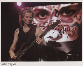 John Taylor Duran Duran SIGNED Photo + COA Guarantee - $79.99