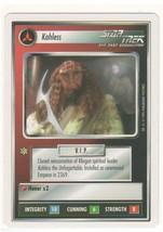 Kahless Star Trek TNG CCG Klingon NM Decipher white border (wb) 1E Premi... - $0.99