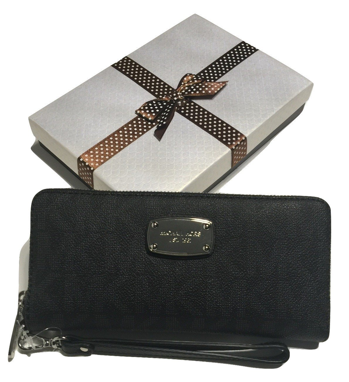 e018dd750e0b Michael Kors ZA Travel Continental Jet Set Clutch Wallet Wristlet with Gift  B... - $192.06