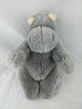 "Herby Hippo Plush Gray 11"" Ganz 1995 H1530S Stuffed Animal Toy - $19.95"