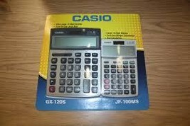 Brand NEW Casio Desktop Calculator Combo Pack GX-120S MS-300m  - $14.95