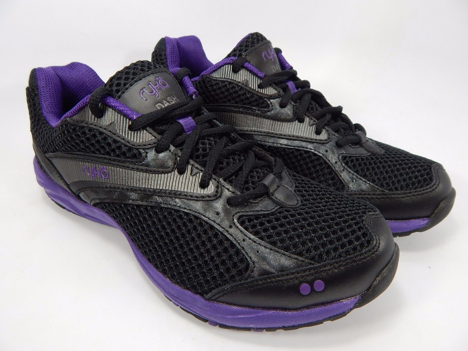Ryka Dash Women's Running Shoes Size US 5 M (B) EU 35 Black Purple