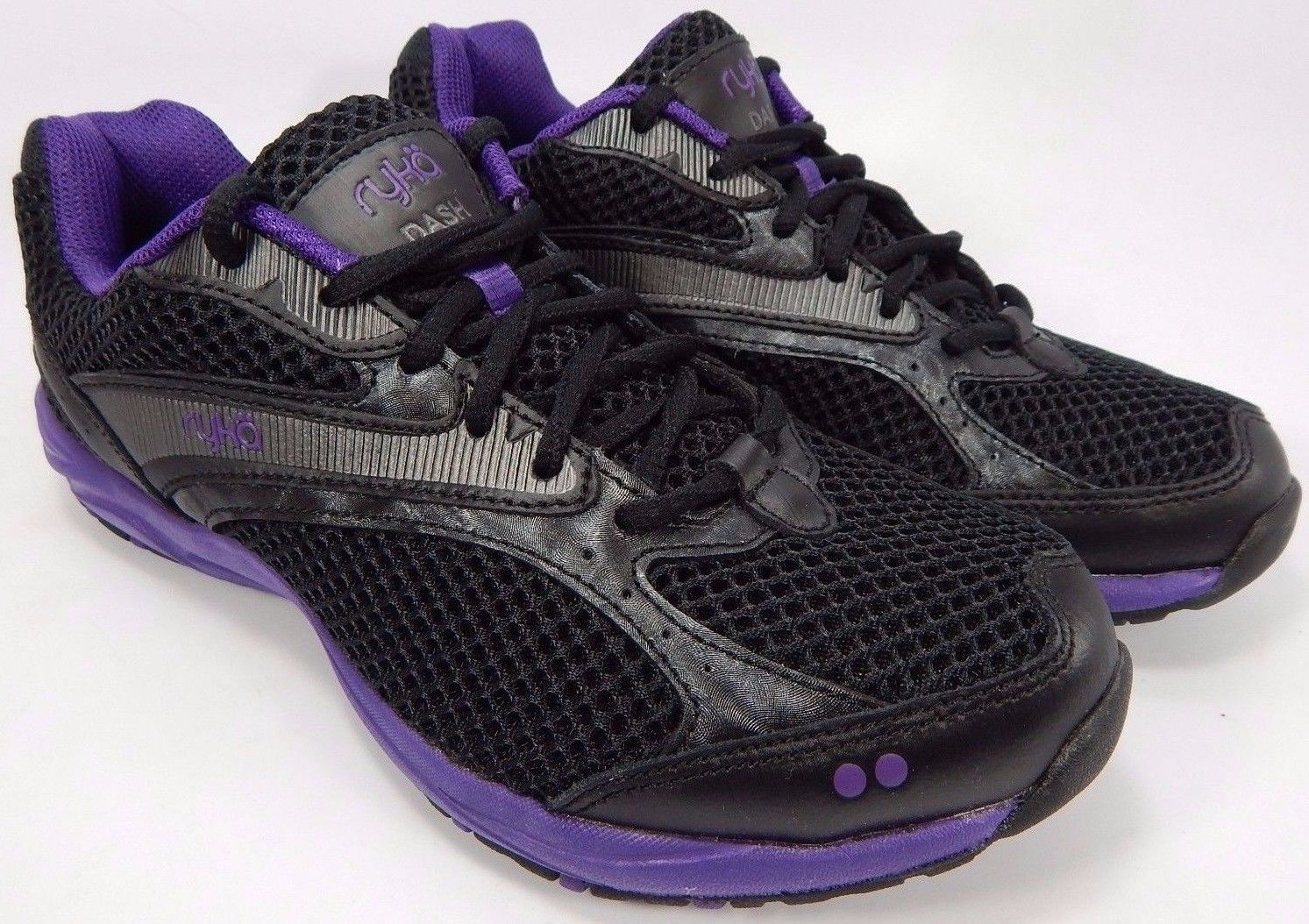 Ryka Dash Women's Running Shoes Size US 7 M (B) EU 37.5 Black Purple