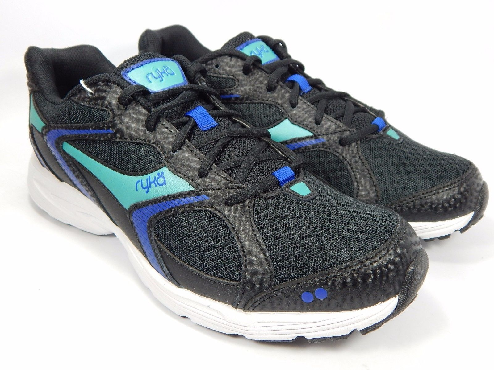 Ryka Streak SMR Women's Running Shoes Size US 8 M (B) EU 39 Black Aqua Blue
