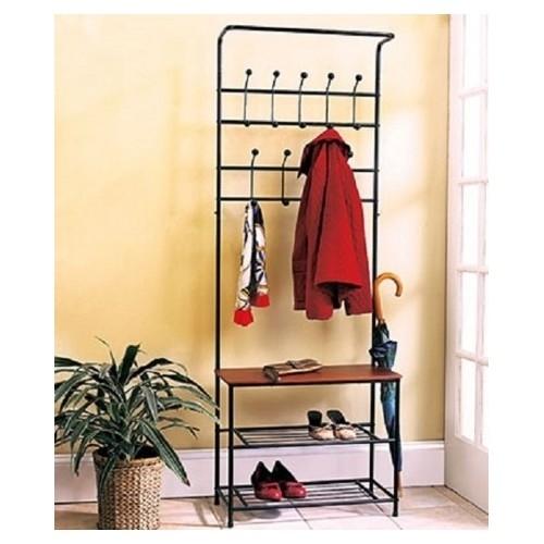 Coat rack shoe rack