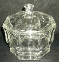 Indiana Glass Concord Bowl Crystal Clear Lidded... - $22.98