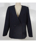 Vintage 80's 'Gentleman's Lady' Women's Blazer Double Breasted V-Neck Si... - $19.95