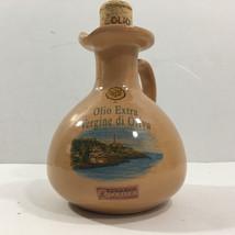 "Ceramic Olive Oil Bottle, Olearia Capoleuca, Cutrofiano, Lecce, Italy (6""H) - $9.84"