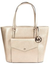 Michael Kors Gold Saffiano Leather Large Pocket Tote Bag - $295.02