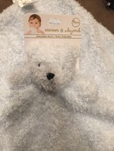 NEW Blankets And Beyond Baby Blue Bear Lovey Nunu Security Blanket Lovey - $24.76 CAD