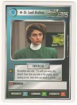 Dr. Leah Brahms Star Trek TNG CCG Federation NM Decipher white border(wb... - $0.99