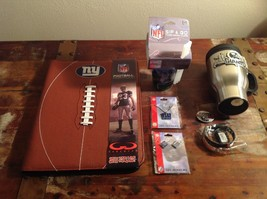 NY Giants Assorted Merchandise Necklace Earrings Football Folio Insulated Mug