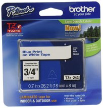 """Brother Genuine P-Touch TZE-243 Tape, 3/4"""" (0.7 mm) Standard Laminated P... - $20.24"""