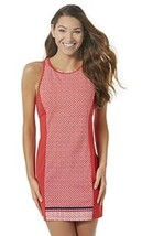Women's Tropical Escape Open Back Swim Dress Cover Up Red Size 14 NEW $84 - $19.80
