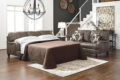Ashley Kannerdy Queen Sofa Slepper Quarry Genuine Leather Contemporary Style