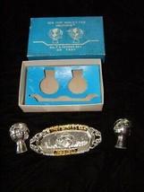 1964 New York World's Fair Salt & Pepper Shakers With Tray w box set 2 - $28.99