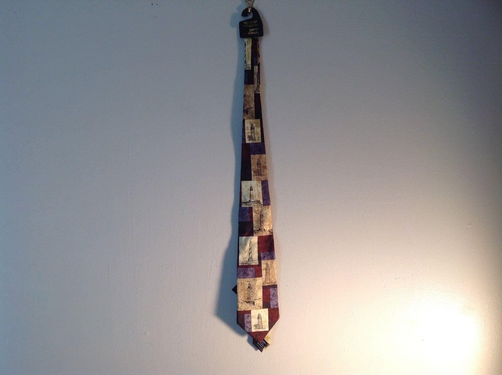 NEW Lighthouse Themed Silk Tie